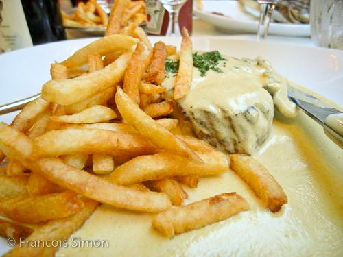 Georges restaurant paris, steak frites